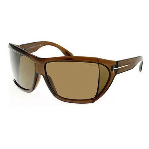 Okulary Słoneczne Tom Ford FT0402 SEDGEWICK 48E, kolor żółty