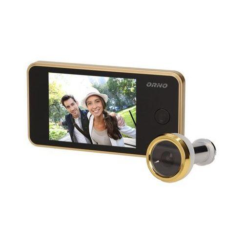 Elektroniczny wizjer do drzwi z szerokokątnym obiektywem 160°, złoty, OR-WIZ-1104/C, ORNO - sprawdź w wybranym sklepie