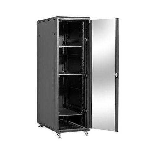 Linkbasic szafa stojąca 19 42u 600x1000mm (drzwi szklane, 4xwent., 3xpolka, 1xlistwa) (5902002039451)