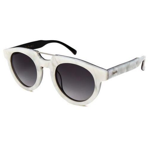 Spektre Okulary słoneczne doppio ponte dp05/m. pearl/black (gradient smoke)