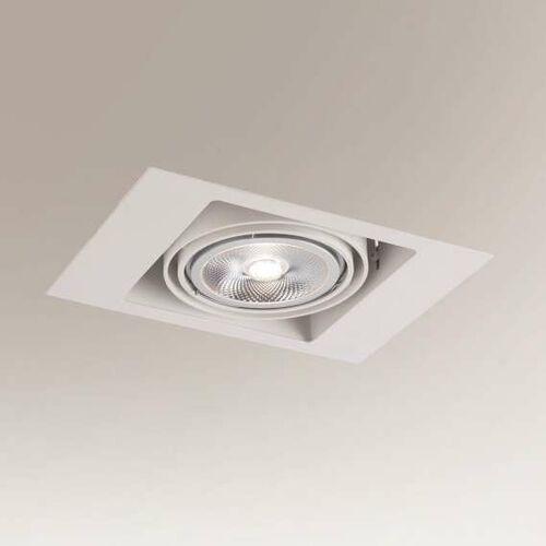 Wpuszczana LAMPA sufitowa MUKO 7348 Shilo podtynkowa OPRAWA prostokątna wpust metalowy biały (5903689973489)
