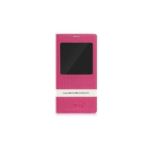 Etui tel.kom.eXc CROCO FIT do Samsung S4, Różowe, kolor różowy
