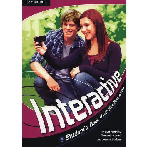 Interactive 4 Student's Book (podręcznik) with Web Zone Access, książka w oprawie miękkej