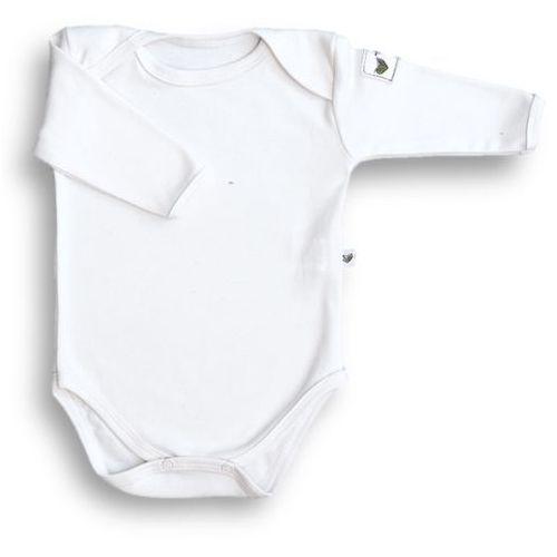Body motylkowe z długim rękawem NANAF ORGANIC, Basic, białe - Biały, kolor biały