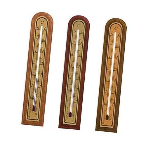 Termometr pokojowy drewniany złoty 0228