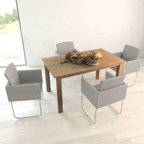 Krzesła do jadalni, 4 szt., jasnoszare,, kolor szary