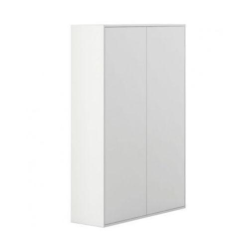 Szafa wysoka z drzwiami white layers, białe drzwi marki Plan