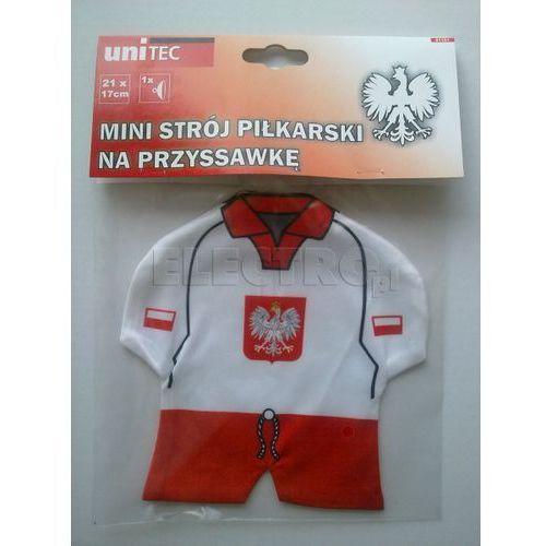 Mini strój piłkarski UNITEC na przyssawkę Polska + Zamów z DOSTAWĄ JUTRO!