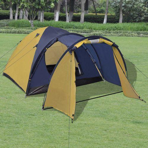 Vidaxl  namiot 4-osobowy żółty, kategoria: namioty i akcesoria
