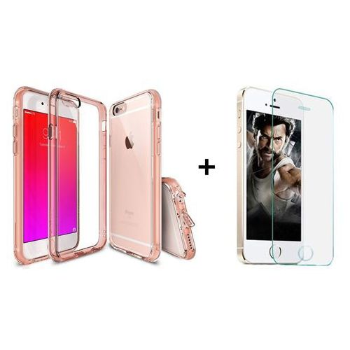 Zestaw | Rearth Ringke Fusion Rose Gold + Szkło ochronne | Etui dla Apple iPhone 6 Plus / 6S Plus