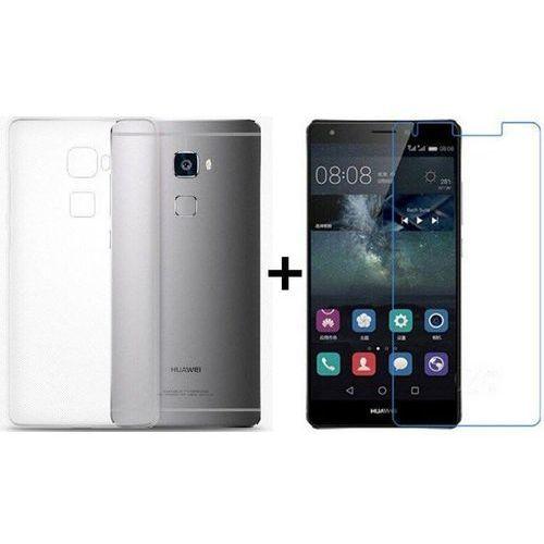 Zestaw   Obudowa Ultra Slim Przezroczysta + Szkło hartowane Perfect Glass   Huawei Mate S