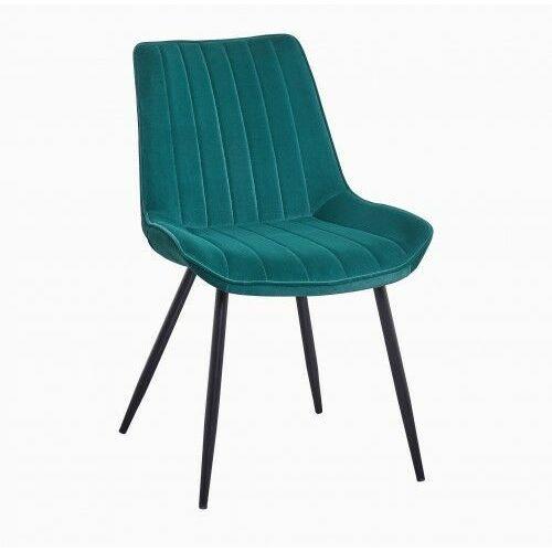 Krzesło tapicerowane welur zielone big verso dostawa 0zł marki Big meble