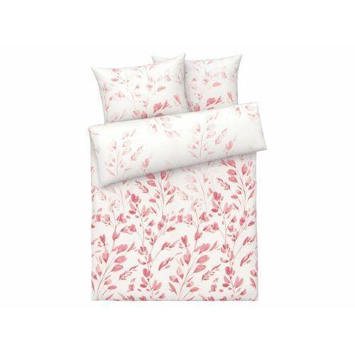 MERADISO® Pościel satynowa z lyocellem (TENCEL™), 160 x 200 cm (W kwiaty/ różowy) (4056233911886)