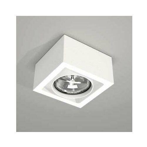 Spot LAMPA sufitowa UTO 7091 Shilo natynkowa OPRAWA metalowa do łazienki kostka cube biała, 7091