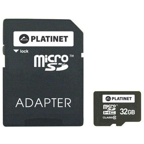 Karta PLATINET Micro SD 32 GB + Adapter SD + Zamów z DOSTAWĄ JUTRO!