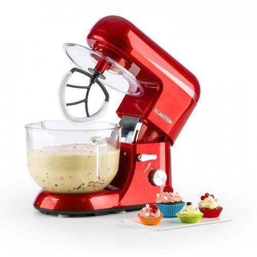 Klarstein Rossa Argentea 2G Robot kuchenny ze szklana misa 1200W 2,5/5,2l czerwo (4260509682930)