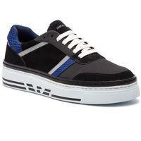 Sneakersy EMPORIO ARMANI - X4X262 XL760 C267 Black/Silver/Blue/Bl, w 7 rozmiarach