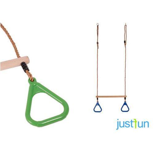 Trapez z trójkątnymi obręczami - jasnozielony marki Just fun