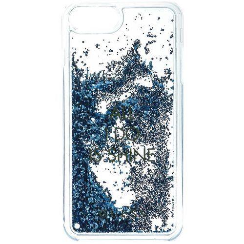 Guess etui Liquid Glitter Hard Apple iPhone 6/6S/7, niebieski, kolor niebieski