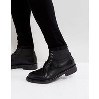 fernie leather lace up brogue boots - black, H by hudson