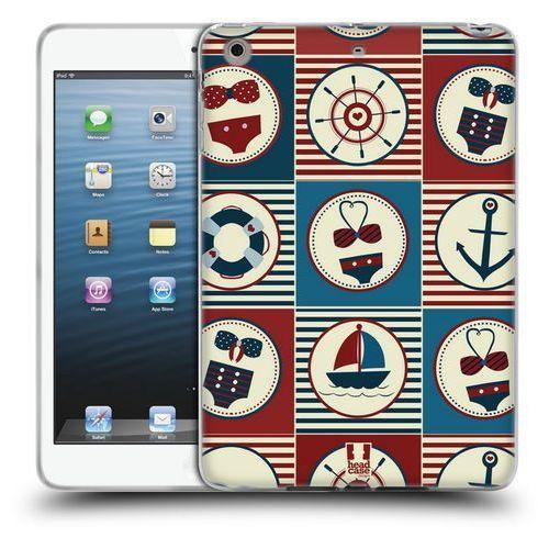 Etui silikonowe na tablet - Nautical Summer DARK BLUE AND RED
