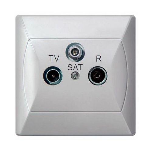 Gniazdo antenowe RTV-SAT końcowe Biały - GPA-AS/00 Akcent, GPA-AS/00