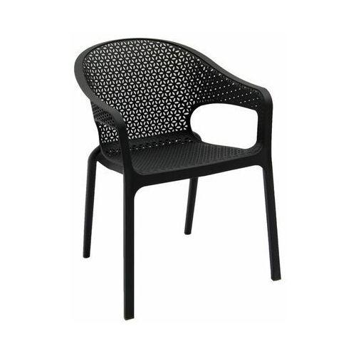 Krzesło ogrodowe OSLO plastikowe antracytowe
