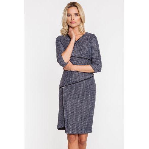 Sukienka z asymetrycznymi przeszyciami - marki Ennywear