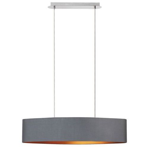 Lampa wisząca Rabalux Monica 2542 2x60W E27 szary/złoty/chrom, 2542