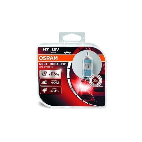night breaker unlimited hcb h7 reflektor przedni, 64210 nbu, 12 v, duobox, night breaker unlimited, twarda osłona – podwójne opakowanie, biały marki Osram