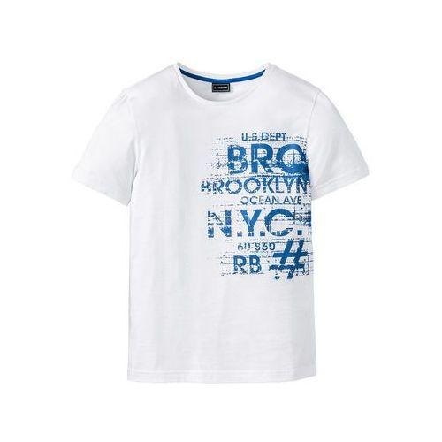 T-shirt Slim Fit bonprix biały