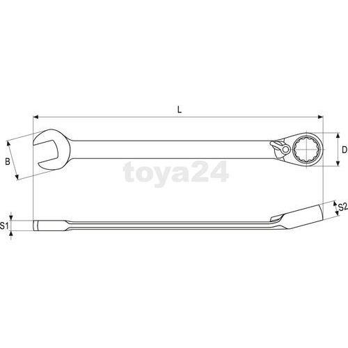Klucz płasko-oczkowy z grzechotką 8 mm Yato YT-1651 - ZYSKAJ RABAT 30 ZŁ (5906083916519)
