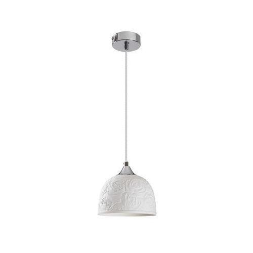 LAMPA wisząca ROSALIE 7606 Rabalux ceramiczna OPRAWA prowansalski ZWIS w kwieciste wzory biały