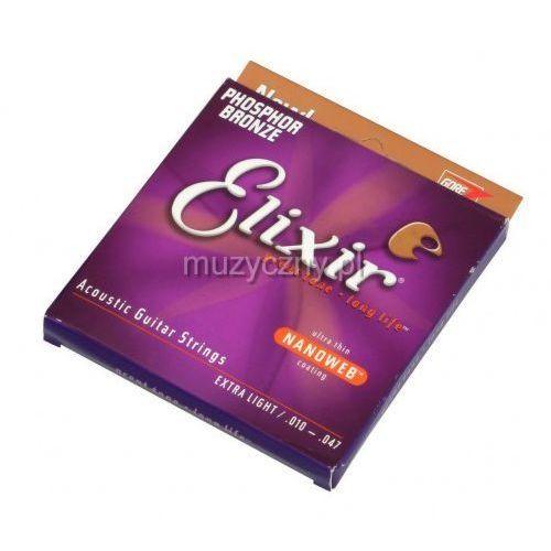 16002 phosphor bronze extra light nw struny do gitary akustycznej 10-47 marki Elixir