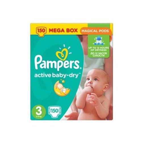 Pampers active baby pieluchy 3 midi 150szt pieluszki mega box karton (4015400265207). Najniższe ceny, najlepsze promocje w sklepach, opinie.