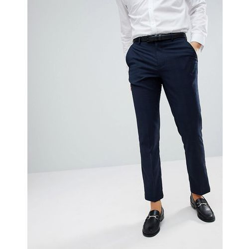 skinny check smart trousers in blue - blue marki Burton menswear