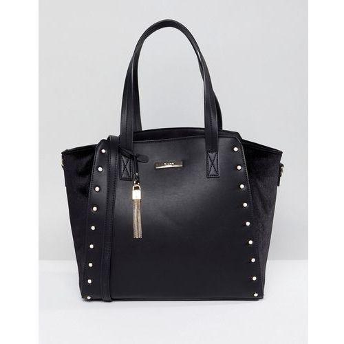Dune Studded Tote Bag - Black, kolor czarny