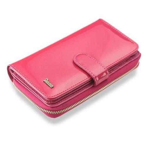 4a38708434619 Portfel damski skórzany lakierowany bardzo pojemny różowy 603 marki Peterson