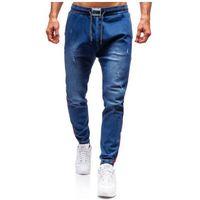 Spodnie jeansowe joggery męskie granatowe Denley 2053, jeans