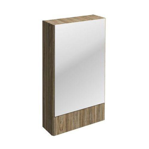 Nova Pro Koło szafka wisząca 49 3 x 85 x 17 6 cm z lustrem szary jesion - 88440000 (5906976556785)