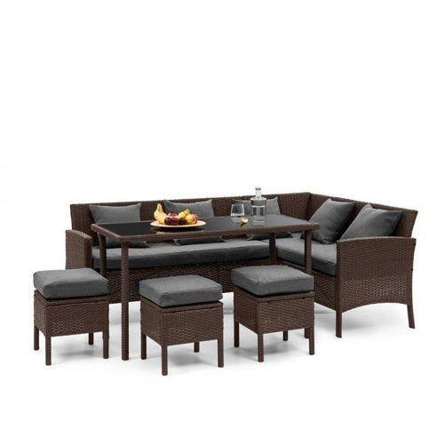 Blumfeldt Titania Dining Lounge Set Komplet mebli ogrodowych brązowy/ciemnoszary