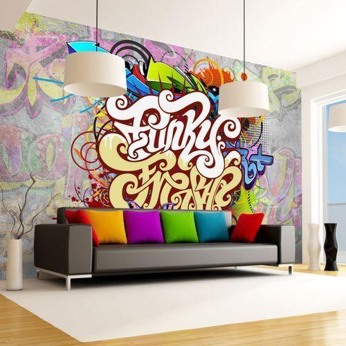 Fototapeta flizelinowa wodoodporna hd - funky graffiti 400 szer. 280 wys. marki Artgeist