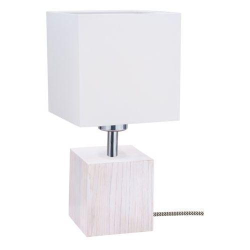 Lampa stołowa lampka Spot Light Trongo 1x60W E27 dąb biały/czarno-biały/biały 7191432, 7191432