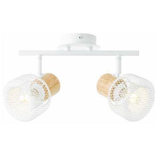 Brilliant Gabby 86213/75 plafon lampa sufitowa 2x28W E14 biały/drewno