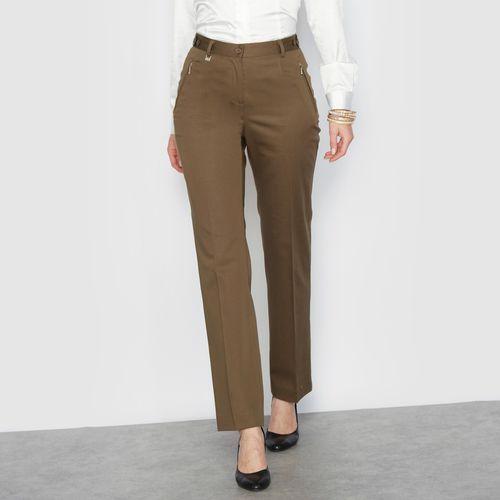 Spodnie z satynowej bawełny ze stretchem marki Anne weyburn