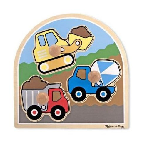 Puzzle drewniane MELISSA & DOUG Pojazdy budowlane 13395 (0000772133951)