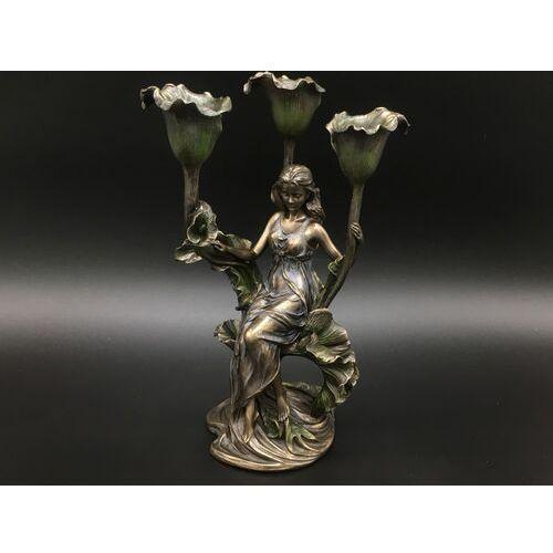 Świecznik z siedzącą kobietą na kali (an10518a4) marki Veronese