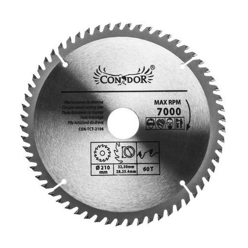 Tarcza do drewna con-tct-2106 śr. 210 mm 60 z marki Condor
