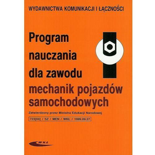 Program nauczania dla zawodu mechanik pojazdów samochodowych marki Wydawnictwa komunikacji i łączności