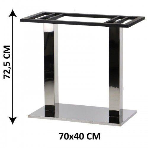 Podstawa stolika podwójna sh-2003-4/p, 70x40 cm (stelaż stolika), stal nierdzewna polerowana marki Stema - sh